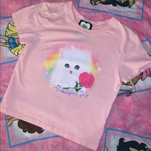DADDYS GIRL KITTY BABY TEE